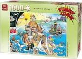 King Funny Comic Puzzel - Rocking Stones - 1000 Stukjes Legpuzzel (68 x 49 cm)