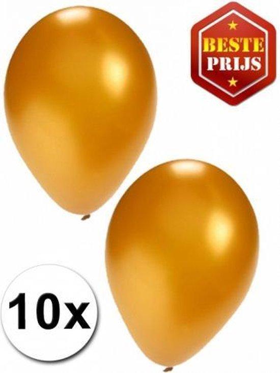 Gouden ballonnen 10 stuks