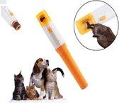 Draadloze Elektrische Nagelvijl voor Hond en Kat. Elektrische honden/katten/dieren nagelvijl / nagelknipper / nagelschaar, draadloze nagelvijl hond + kat (Pet Pedicure vijl), geel , merk PetPedicure