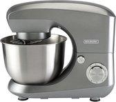 Bourgini keukenmachine 4,5 liter - metallic grijs