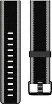 Fitbit Versa (Lite) geweven bandje - Zwart/Grijs - Large