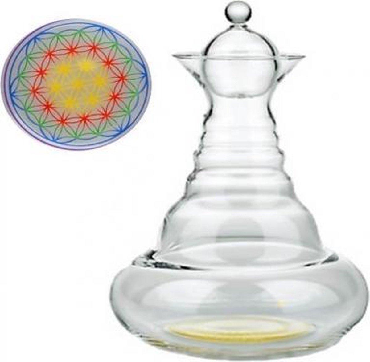 Vitaalwaterkaraf Happy Alladin met BDL kleur - 1300 - Glas - M - Bloem des Levens