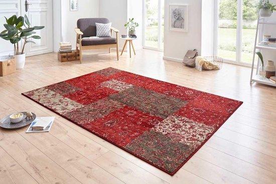 Patchwork vloerkleed Kirie - rood/bruin 80x150 cm