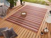 Binnen & buiten vloerkleed Bamboo - rood/oranje 80x240 cm