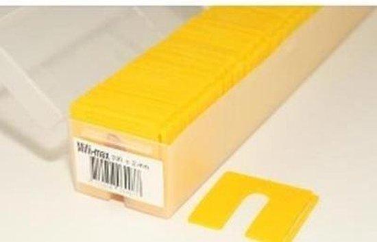 Uitvulplaten geel 2mm 200 stuks