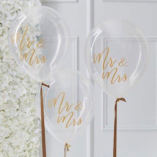 Ballonnen 'Mr & Mrs' - 5 stuks