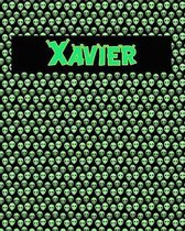 120 Page Handwriting Practice Book with Green Alien Cover Xavier