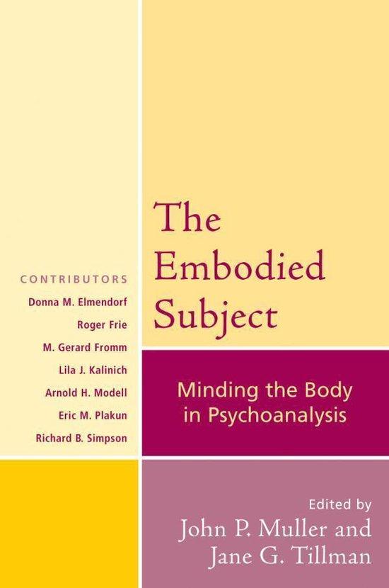 Boek cover The Embodied Subject van Roger Frie (Onbekend)