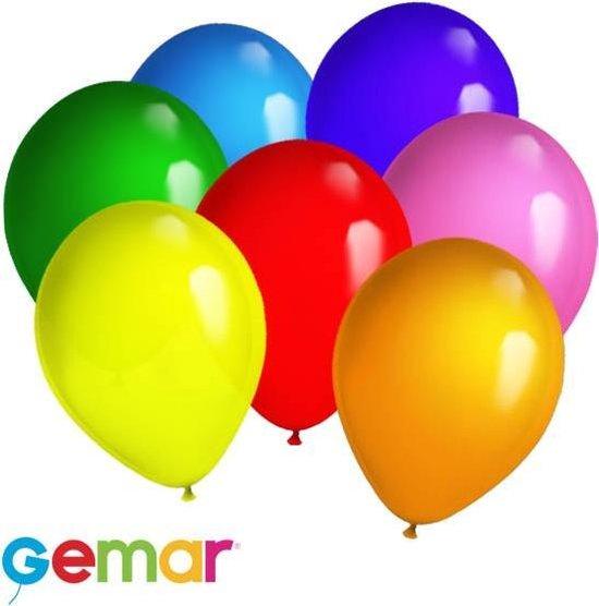30x Ballonnen verschillende kleuren (Ook geschikt voor Helium)