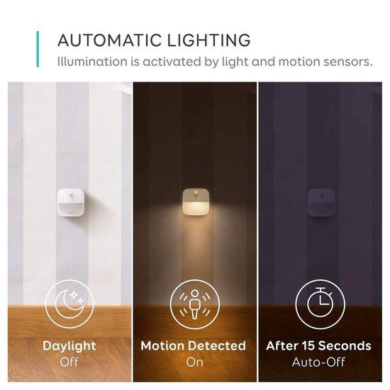Anker Eufy Lumi LED SENSOR-lamp / Draadloos - 3 stuks - Bewegingssensor - Ledlamp - Binnen Lamp - Nachtlamp - Nachtlampje - Werkt op 3 AAA batterijen - Wit - 1e generatie