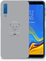 Samsung Galaxy A7 (2018) TPU Siliconen Hoesje Baby Olifant