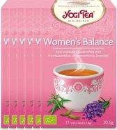 Yogi Tea Women's Balance Voordeelverpakking  - 6 pakjes van 17 theezakjes