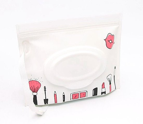 Billendoekjes doos :Blush, compacte natte doekjes houder - Eco vriendelijke herbruikbare natte doekjes hoes - make-up case - vochtige doekjes houder - billendoekjes doos voor onderweg - wet wipe pouch - kraamgeschenk - babyshower