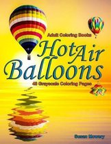Adult Coloring Books Hot Air Balloons