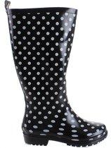 Playshoes Regenlaarzen Rubber Dames Zwart Maat 38