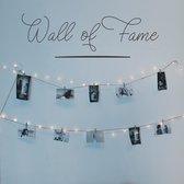 Woonkamer muursticker Wall of Fame - Zwart | Muurstickers woonkamer | Stickers muur | Woonkamersticker muur | Decoratie | Kamer decoratie | Wand sticker