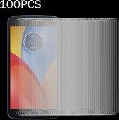 Let op type!! 100 stuks voor Motorola Moto E4 Plus 0.3 mm 9H oppervlaktehardheid 2.5D explosieveilige gehard glas niet-volledig scherm Film
