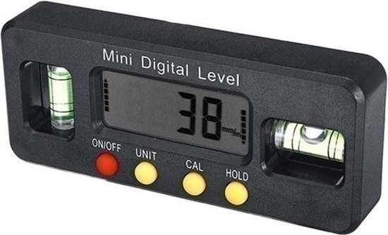 4 × 90 ° Waterpas 0.1 ° Resolutie Digitale Hoek Liniaal Hoek Meetinstrument Gradenboog Hoekzoeker Meter Meter Bevel