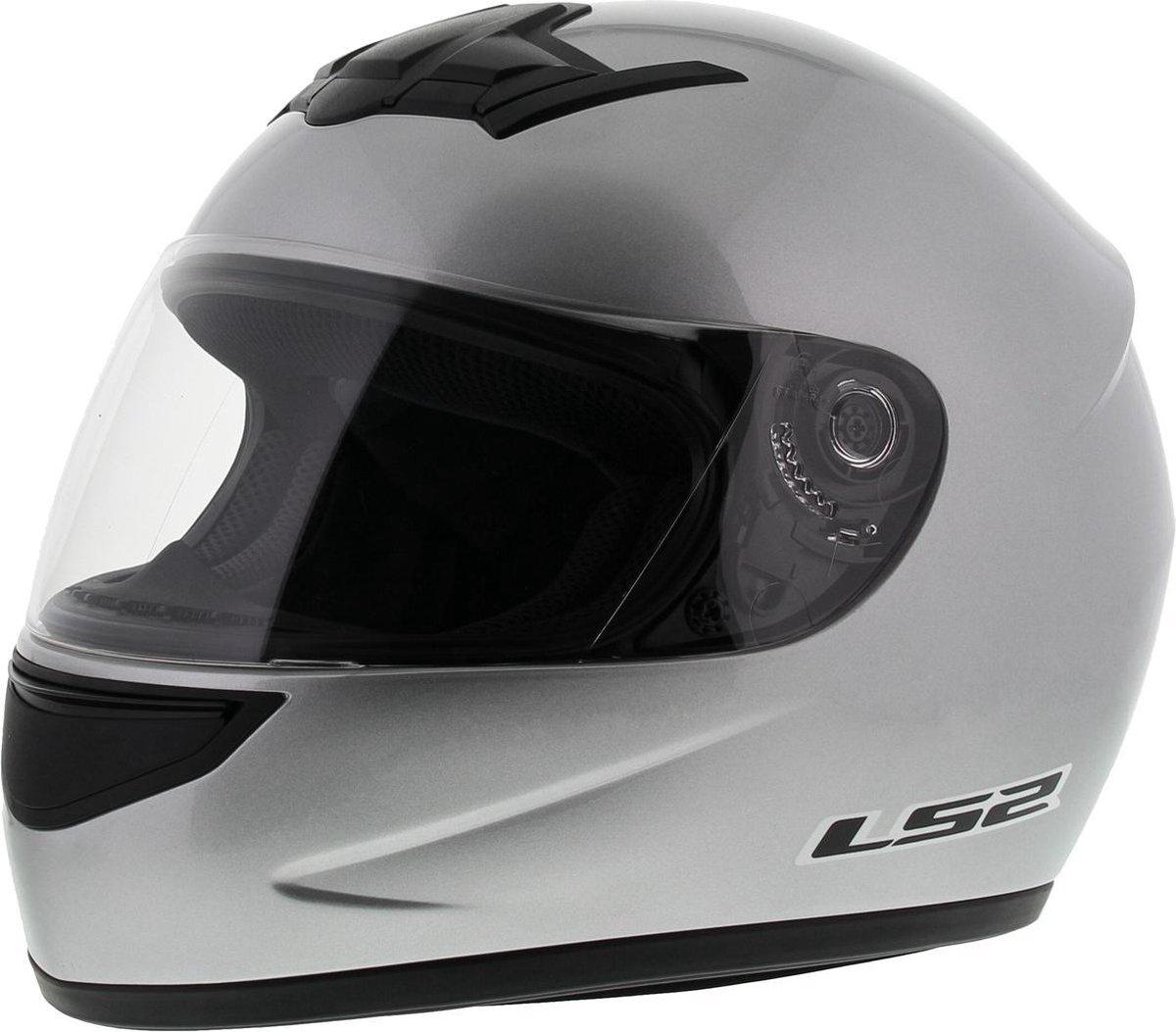 LS2 FF350 Helm Single Mono glans zilver