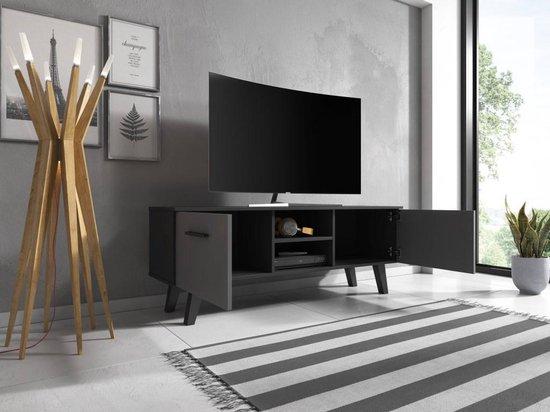 Scandinavisch Tv Meubel.Bol Com Tv Meubel Zwart Scandinavisch Design 140x53x41 Cm