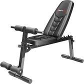 Sportstech halterbank BRT500 - inklapbaar fitnessapparaat - halter bench - buiktrainer - rugtrainer - Zwart
