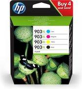 HP 903XL Origineel Zwart, Cyaan, Magenta, Geel Multipack 4 stuk(s)