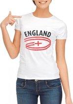Wit dames t-shirt Engeland XL
