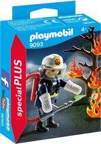PLAYMOBIL Brandweerman met brandende boom  - 9093
