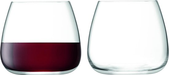 L.S.A. Wine Culture Wijnglas Stemless - 385 ml - Set van 2 Stuks