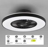 Plafondventilator met LED verlichting - zwart - incl. afstandsbediening - Reality Light
