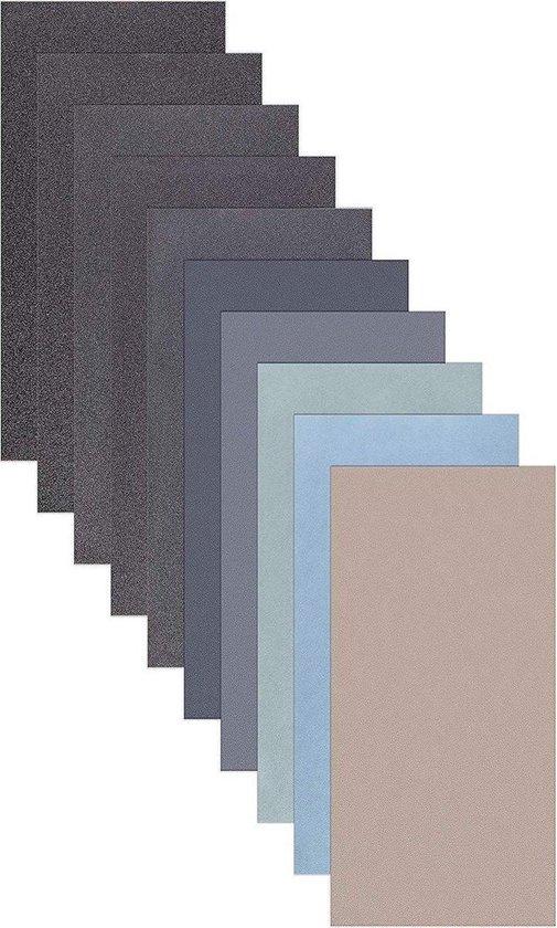 ProPapier - Schuurpapier set - 10 stuks - Korrel P800 P1000 P2000 P3000 P5000 P7000/Auto polijsten / Meubels / Metaal