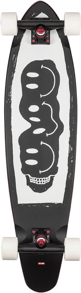 Globe Bells longboard black / white / red