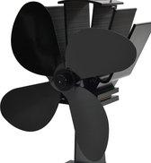 vidaXL Kachelventilator met 4 vinnen zwart  VDXL_51241