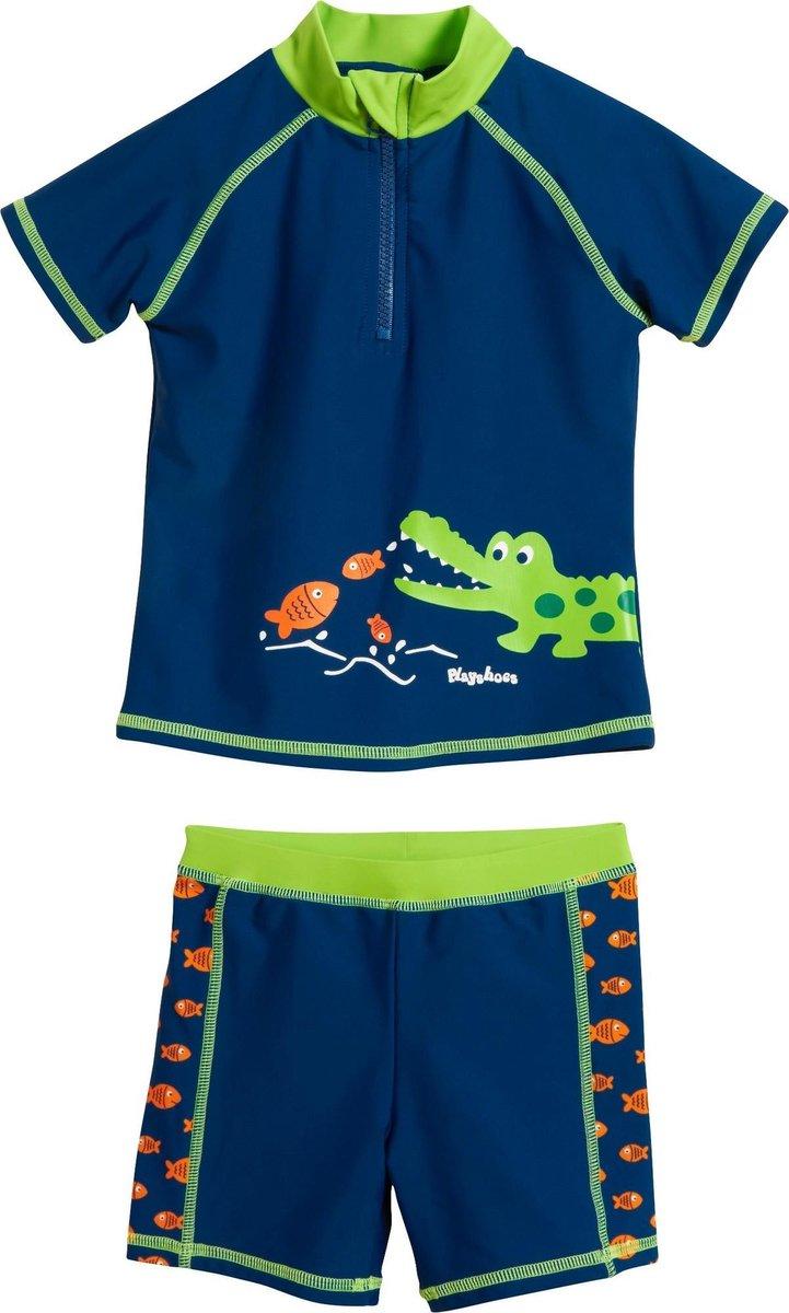 Playshoes UV zwemsetje Kinderen Krokodil - Blauw - Maat 110/116