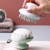 Luxe Scalp Massager - Siliconen Haarborstel - Scalp Brush - Hoofdhuid Massage Borstels - Scalp Massage Brush - Anti Roos - Groen