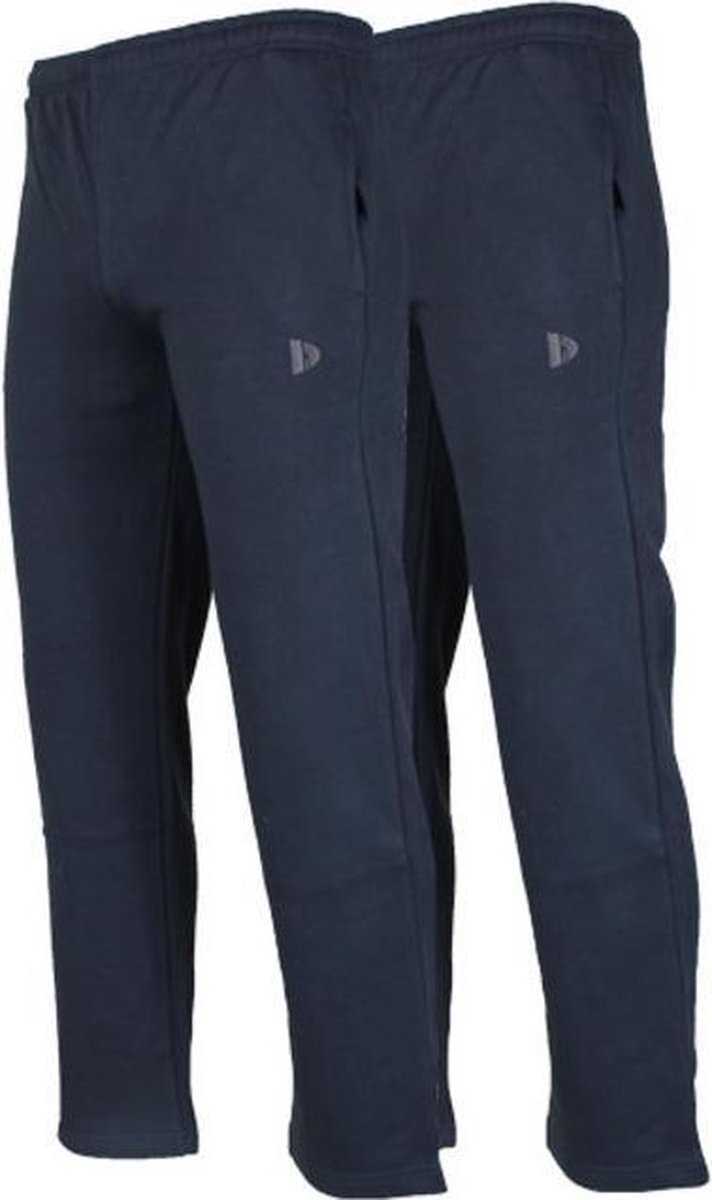 2-Pack Donnay Joggingbroek rechte pijp - Sportbroek - Heren - Maat XXL - Donkerblauw