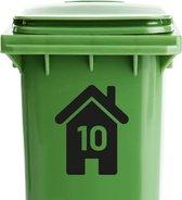 Container stickers huisnummer ZWART | Kliko sticker voordeelset | Cijfer stickers weerbestendige 1234567890 | containerstickers |