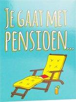 Paper Dreams Wenskaart Je Gaat Met Pensioen... 16 X 12,5 Cm