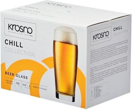 Krosno bierglas 500 ml - set van 6 stuks -