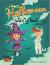 Happy Halloween Activity Book Learn, Puzzle, Color