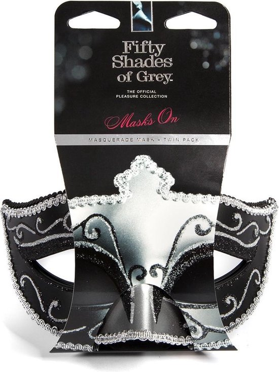 Masks on Masquerade Mask Twin Pack - Black/Silver - Masks