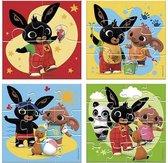 Bing - 4in1 puzzelset - 4x6x9x16 stukjes - kinderpuzzel - Multi Color