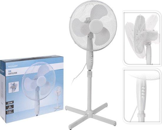 Excellent Electrics - Staande ventilator 40cm Wit (45W)