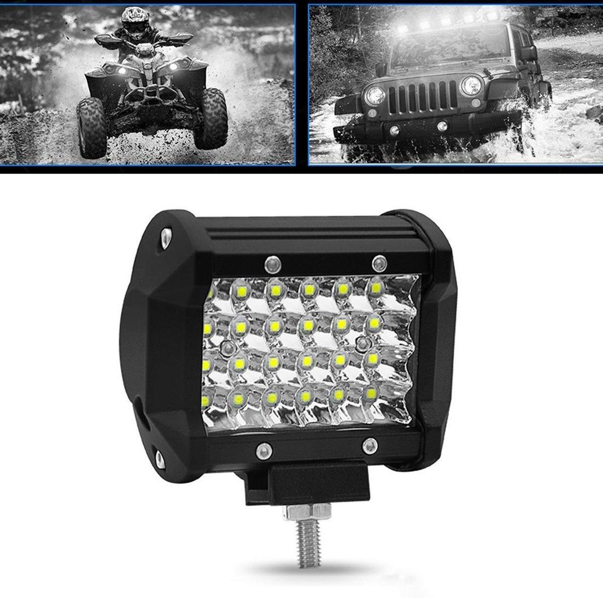4 inch 72 W 3000LM 4 Rij LED Strip Licht Werken Refit Off-road Voertuig Lamp Dak Strip Licht