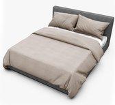 Dream Sheets luxe dekbedovertrek 200x200/220 tweepersoons (set) biologisch katoen beige bruin linnen look