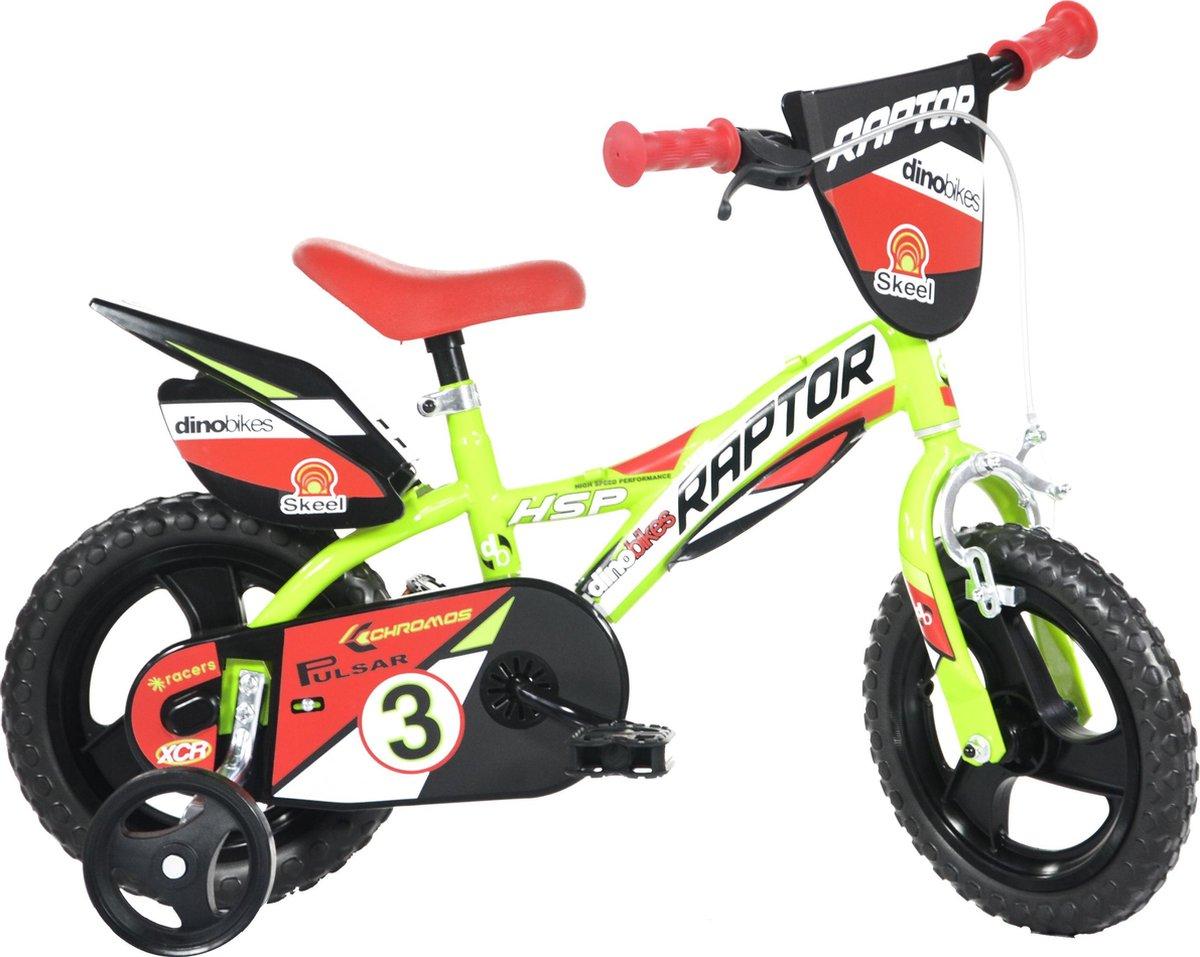 Dino Bikes Kinderfiets Raptor fluor geel: 12 inch online kopen