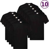 Fruit of the Loom T-shirts Original 10 st 4XL katoen zwart