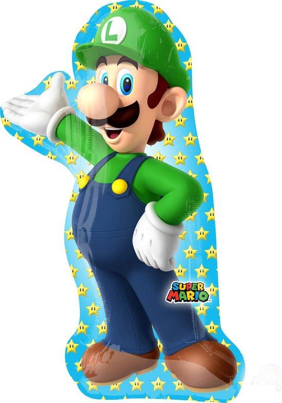 Super Mario Helium Ballon Luigi 96cm leeg