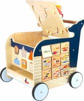 Baby Walvis Loopwagen - Houten speelgoed vanaf 1 jaar