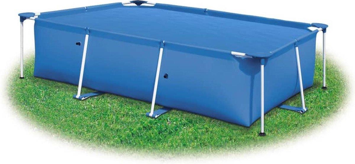 vidaXL Zwembadhoes rechthoekig 1200x600 cm PE blauw